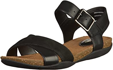 af0623c41e6e Clarks Autumn Air Leather Sandals In Black Combi Standard Fit Size 5 ...
