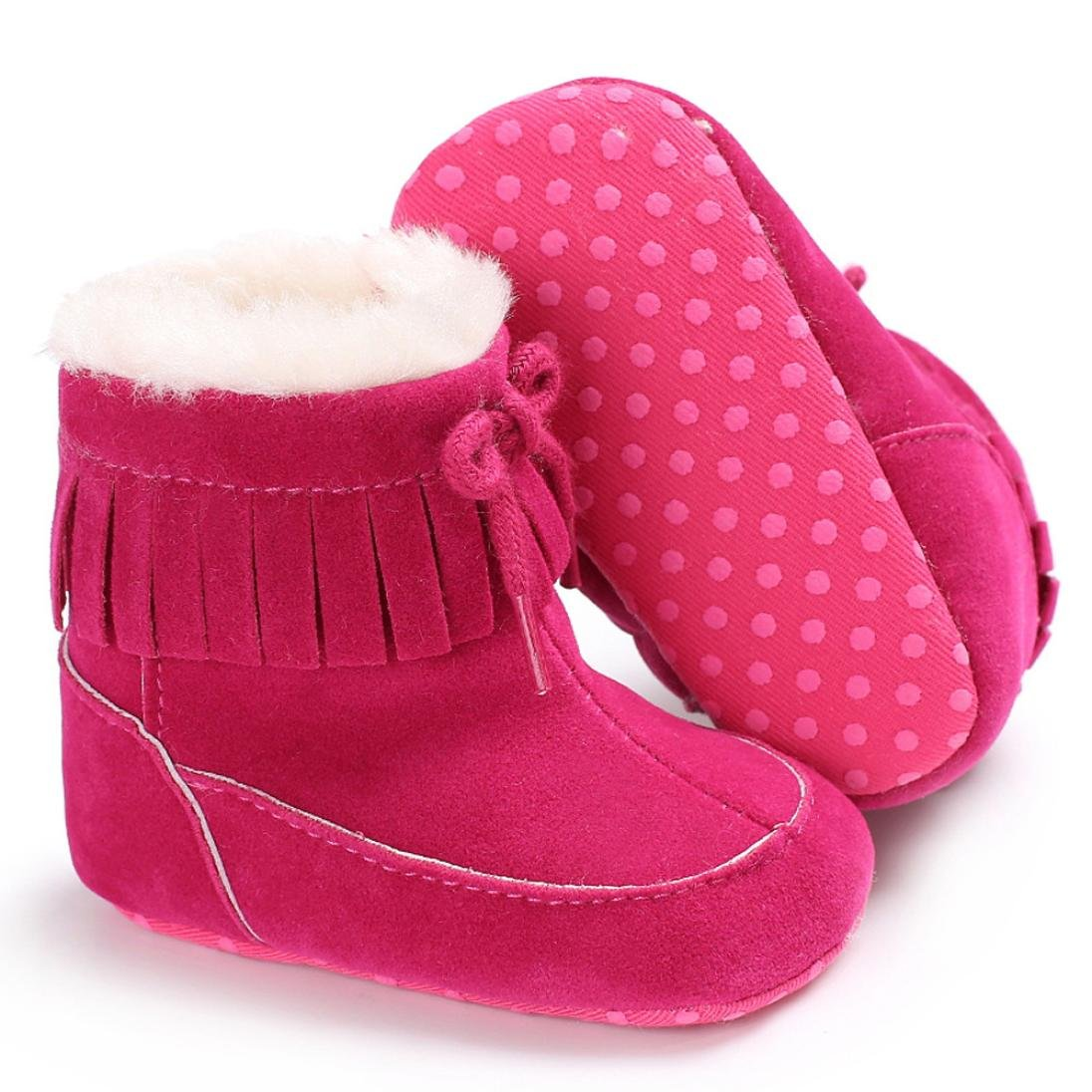 Amiley Autumn Winter Baby Soft Sole Snow Boots Soft Cute Crib Shoes Toddler Boots