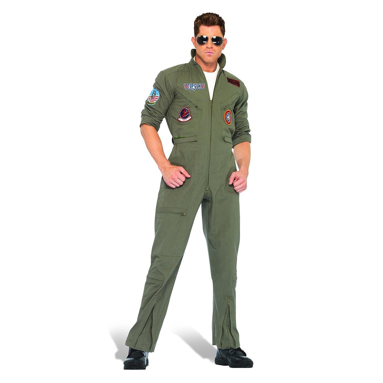 Tomcat Overall Herren Kostüm Flieger Kostümoverall Herren Pilotenanzug khaki - 58/60