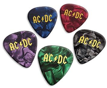 Acdc 5 X Loose Púas de guitarra Mixed Pearl (GHF) : Amazon.es ...