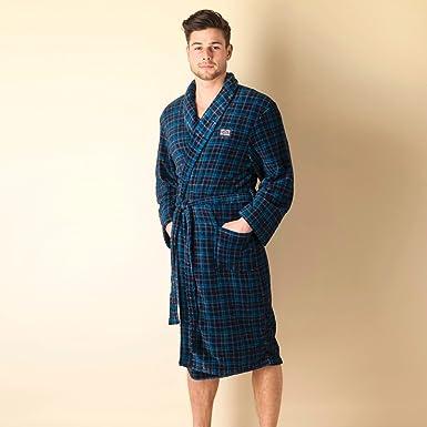 Ben Sherman Mens Mens Stan Check Dressing Gown in Navy - L  Ben Sherman   Amazon.co.uk  Clothing dd622252b