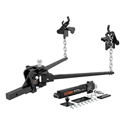 CURT 17422 Short Trunnion Bar Weight Distribution Hitch with Sway Control, Up to 15,000 lbs, 2-Inch Shank, 2-5/16-Inch Ball: Automotive