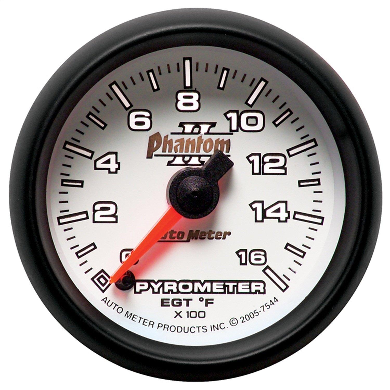 Auto Meter 7544 Phantom II Electric Pyrometer Gauge Kit