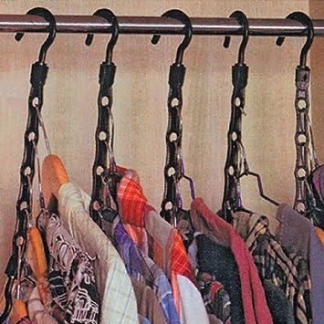 10 Pc Space Saver Hangers Closet Organizing Racks Multiple Clothes Hanger Holder