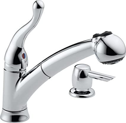 delta 16997 sd dst talbott single handle pull out kitchen faucet