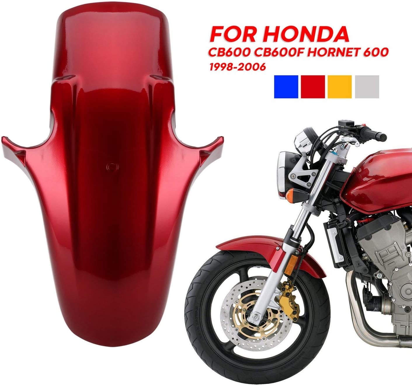 Domilay/Garde-Boue Garde Boue Garde Boue Garde Boue Avant pour Honda CB250F CB600F CB900F CB1300 Hornet 250 600 900 CB600 Hornet 600 Moto ABS Bleu