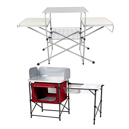 Amazon.com: Ozark Trail Deluxe Camp Kitchen with Storage and ...