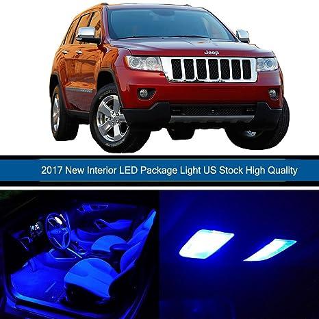 cciyu 14 unidades LED azul bombilla para 2011 – 2017 Jeep Grand Cherokee LED luces interiores