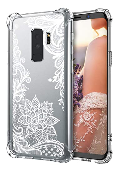 finest selection 4ad1b 6dd93 Cutebe Galaxy S9 Plus Case,Shockproof Series Hard PC+ TPU Bumper Protective  Case for Samsung Galaxy S9 Plus Crystal