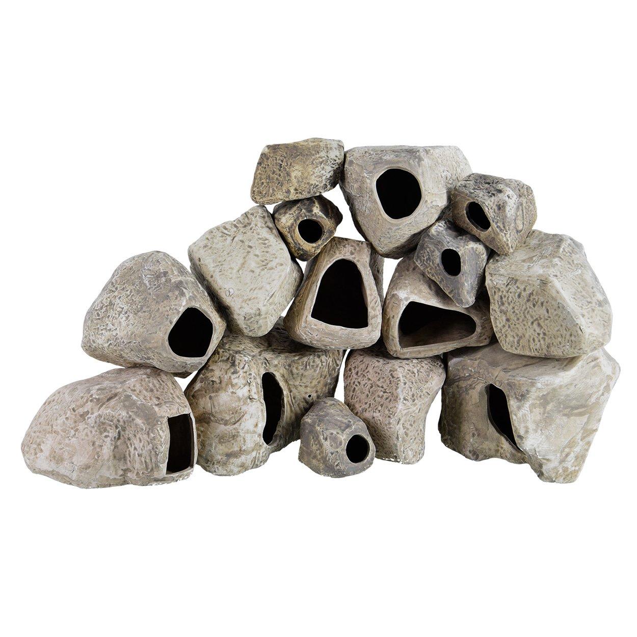Seapora Aquarium Masters AM84015 Cichlid Stones - 15pc Assortment by Seapora