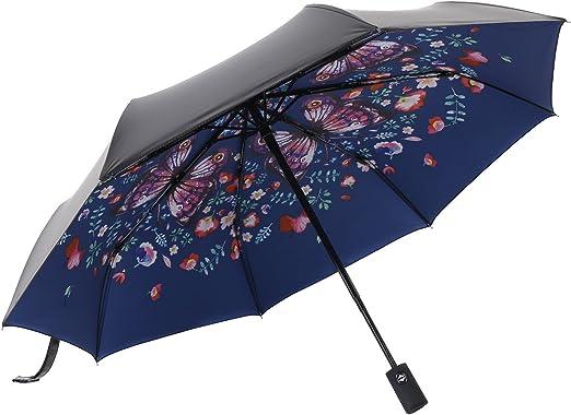 White Wonderful Life Umbrella Outdoor Windproof Travel Compact Umbrella Anti UV Sun//Rain Folding Plaid Umbrella Manual Opens//Closes for Men Women Kids Umbrella