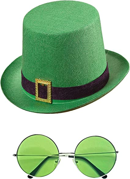 St Motto com-four/® Leprechaun Outfits and Accessories for the green Shrovetide for Mardi Gras Irish Festival Irish Pub Kobold Costumes 02 pieces - Set03 Carnival Parade Patricks Day