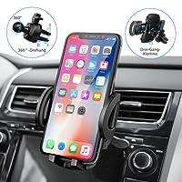 Mpow Handyhalterung Auto Lüftung, [ Einzigartiges Design, Hohe Qualität ] Lüftungsgitter AutoHandyhalterung, 3 einstellbare Modi KFZ smartphone halterung Lüftung, Voller Silikonschutz, Ein-Knopf-Schlüsselfreigabe, Handyhalter fürs auto für iPhoneXS XS Max XR X 8 8Plus, Samsung Galaxy Note9 S9 S9 plus und mehr smartphone