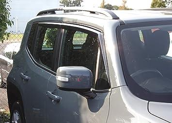 Set deflettori frangivento per Jeep Renegade 2014+ (4 pezzi