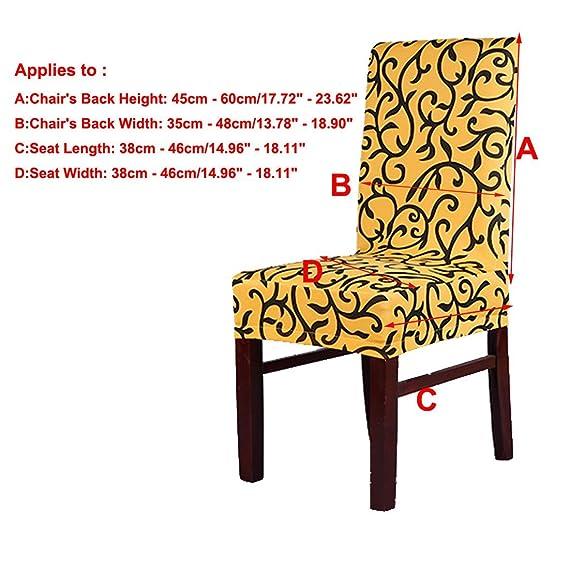 Amazon.com: eDealMax Hotel Comedor estiramiento extraíble lavable cubierta de la Silla del asiento Protector Corto Funda Negro Amarillo: Home & Kitchen