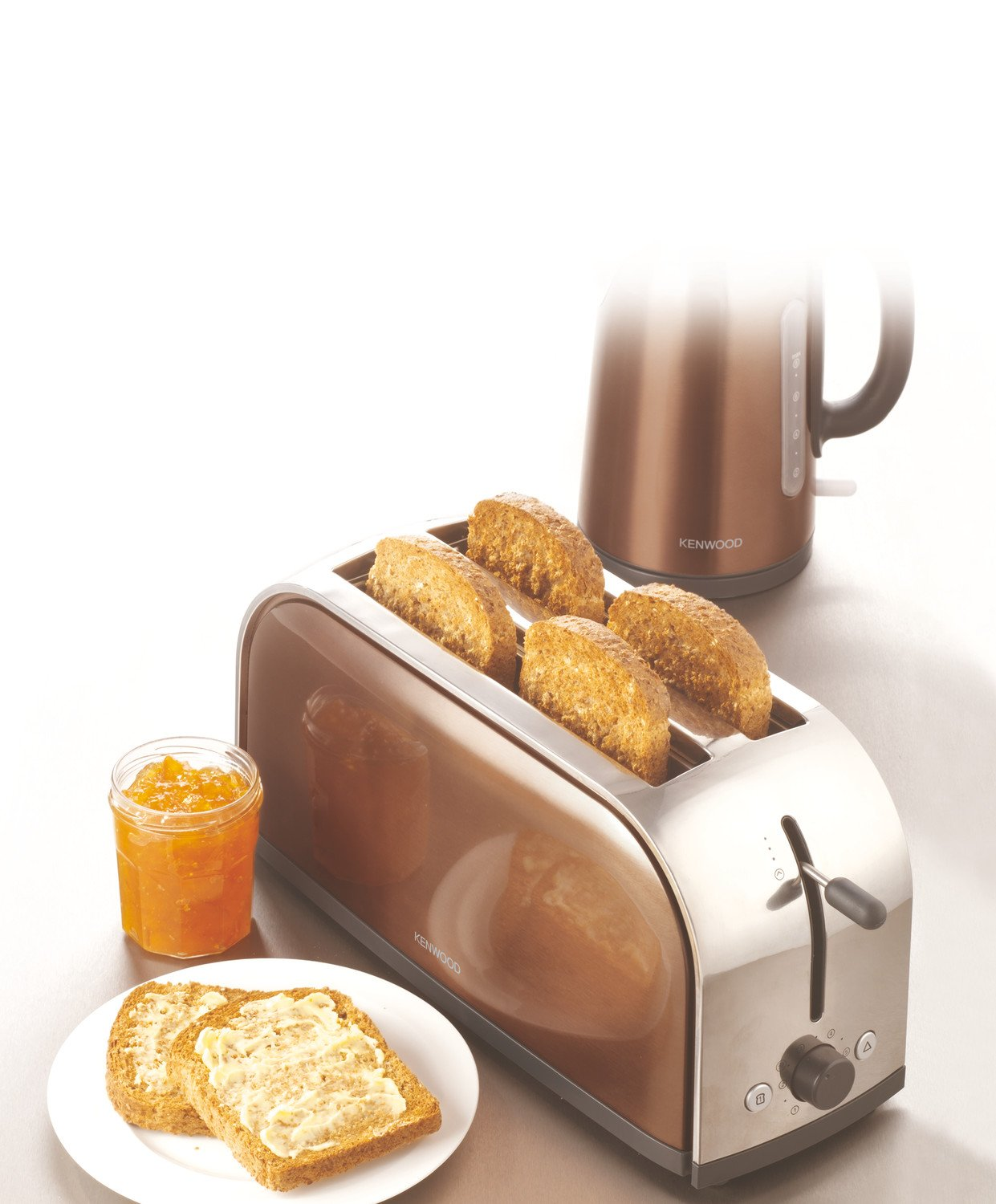 kenwood 4 tranches ttm127 2 fente metallics croque monsieur grille pain ebay. Black Bedroom Furniture Sets. Home Design Ideas
