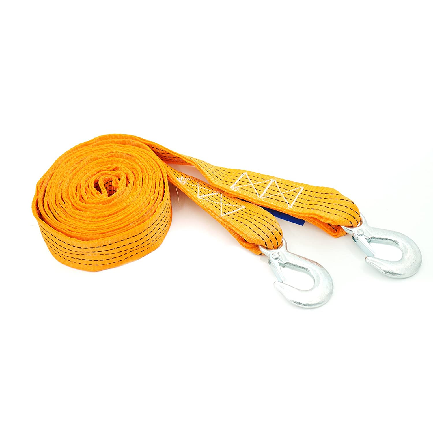 Spurtar Polyethylene Towing Straps 4 Ton 197/'/'x1.77/'/' Heavy Duty Tow Rope with Steel Hook 8,800lb Towing Recovery
