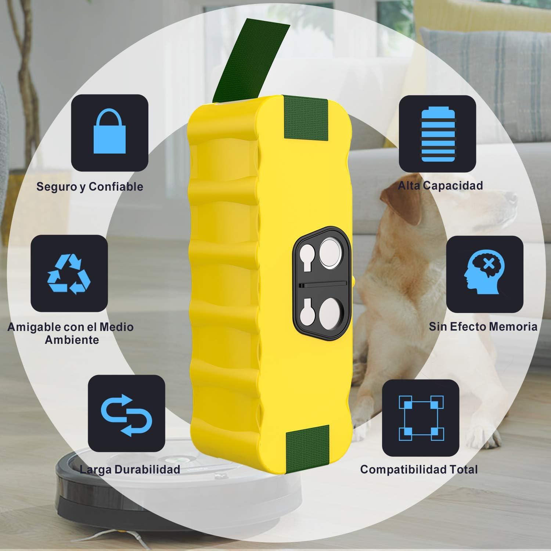 YABER Bater/ía para iRobot Roomba 4500mAh Ni-MH Bateria Compatible con iRobot Roomba Series 550 620 630 650 770 500 600 700 800
