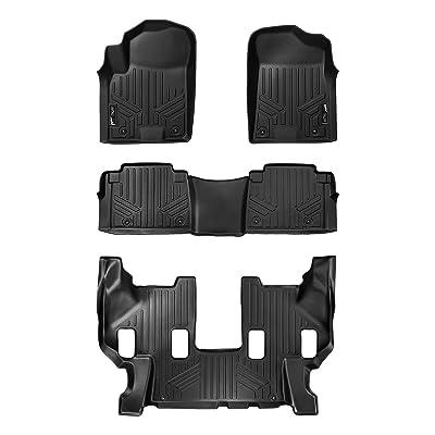 MAXLINER Floor Mats 3 Row Liner Set Black for 2020-2020 Armada / 2011-2013 Infiniti QX56 / 2014-2020 QX80: Automotive