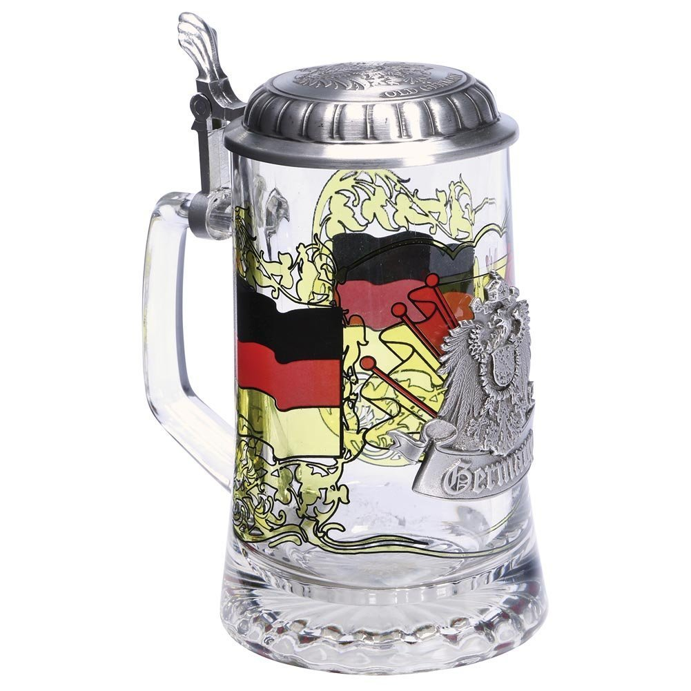 Germany Glass Stein with pewter lid by GermanStein (Image #2)