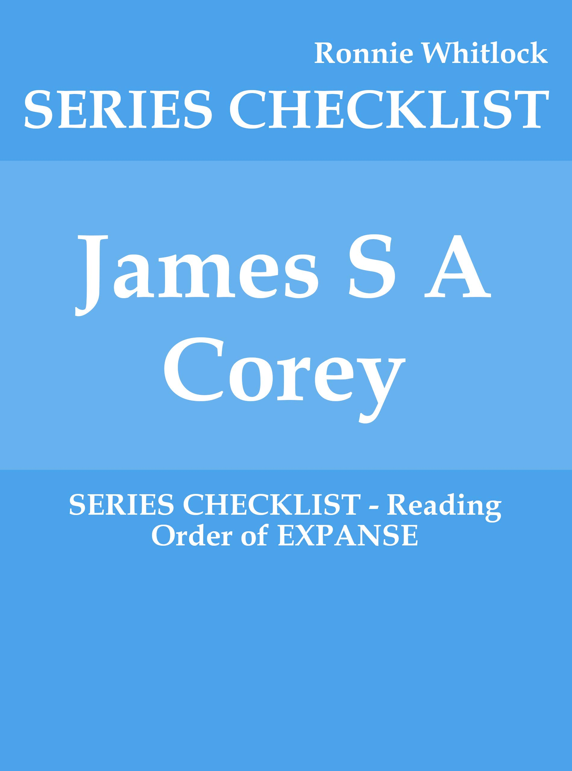 James S A Corey   SERIES CHECKLIST   Reading Order Of EXPANSE  English Edition