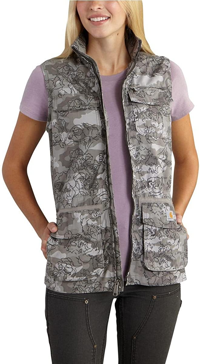 Carhartt Women's El Paso Utility Vest Camo: Clothing