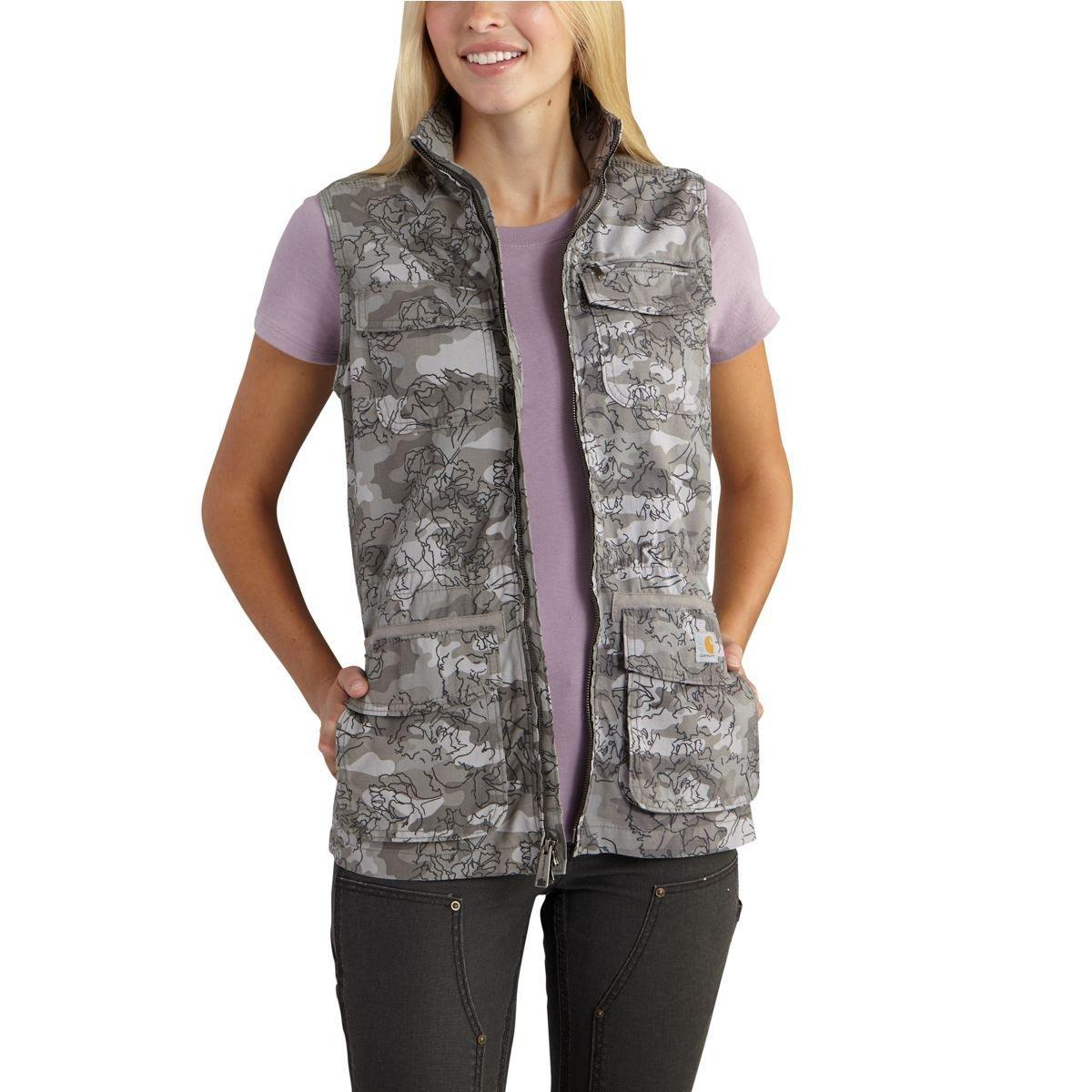 Carhartt Women's El Paso Utility Vest Camo