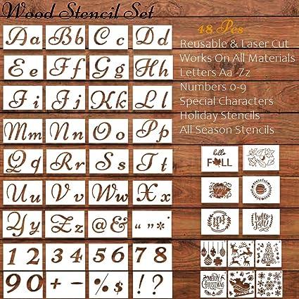 Amazon.com: Plantillas de 48 piezas para decoración navideña ...