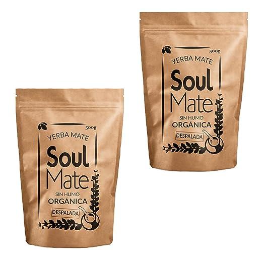 Yerba Mate Soul Mate Sin Humo Despalada 500g | Yerba Mate Despalada 100% bio orgánica | Yerba mate de alta calidad | Yerba Mate fuertemente estimulante: ...