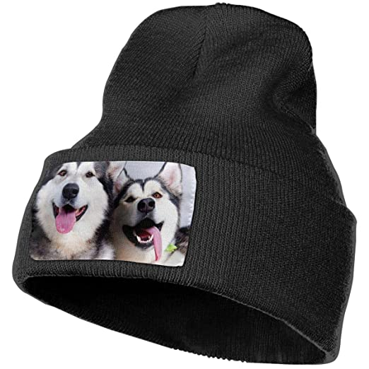 Siberian Husky Unisex Beanie Hat Winter Warm Knit Skull Hat Cap at ... ec3039cc0ca
