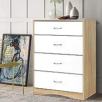 Artiss Chest of Drawers Wooden 5-Drawer Dresser - White & Wood