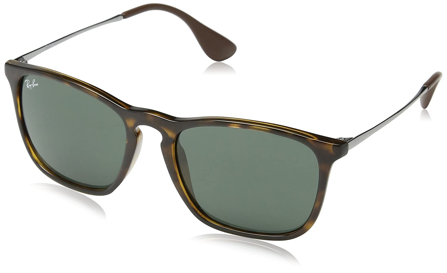 1f56297a986 Amazon.com  Ray-Ban RB4187 Tortoise Chris Sunglasses with Green Classic  Lens