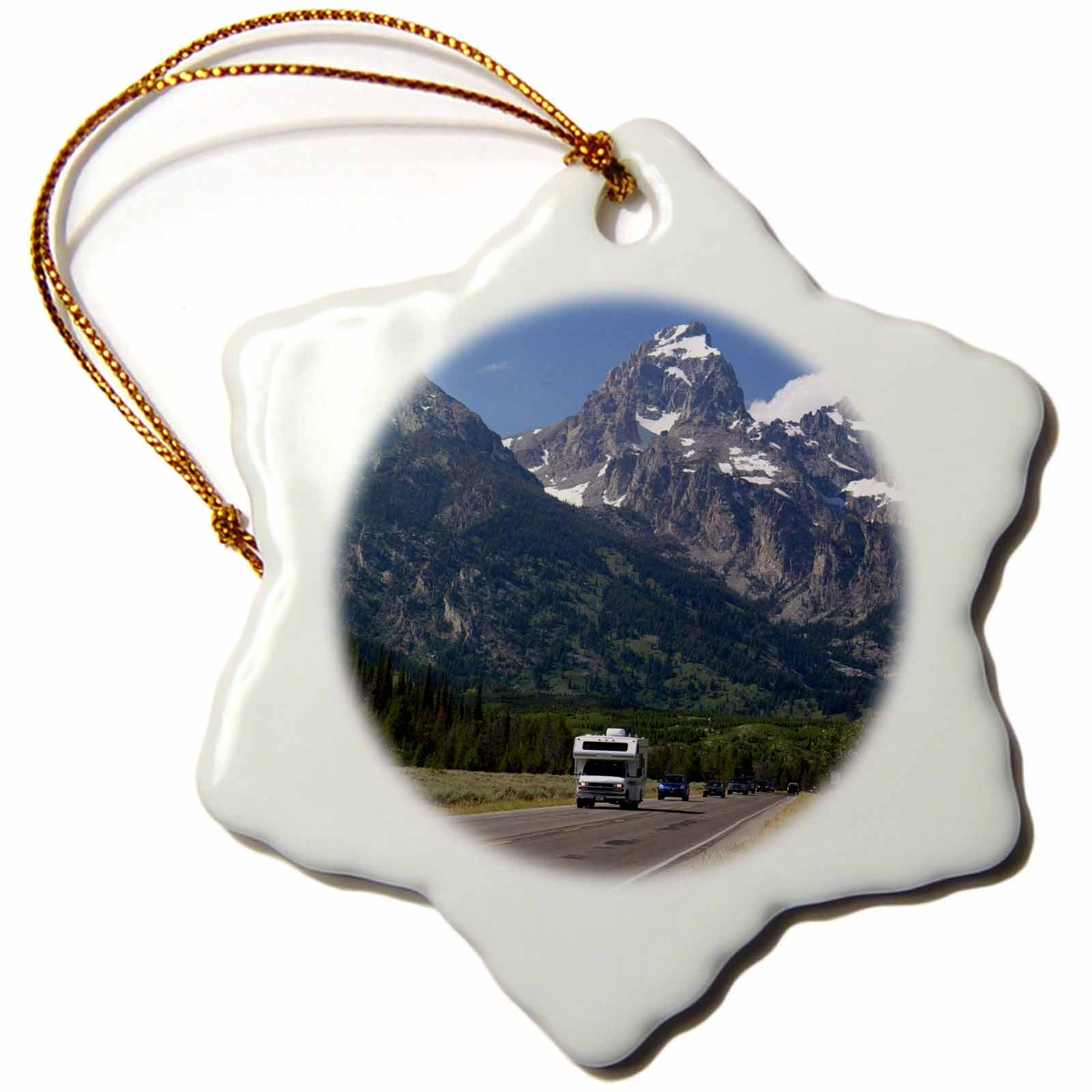 3dRose orn_148941_1 Travel, Grand Teton National Park, Wyoming, Usa Us51 Dfr0149 David R. Frazier Snowflake Ornament, Porcelain, 3-Inch