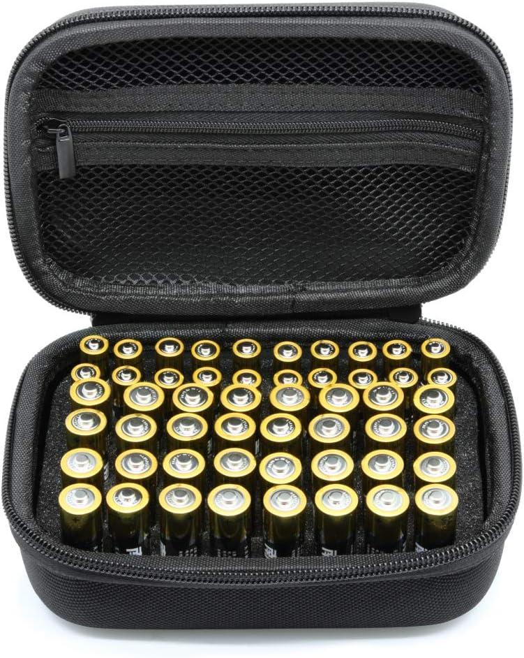 Surdar 55+ batería Caja organizadora de batería Dura con Capacidad para AA AAA: Amazon.es: Electrónica