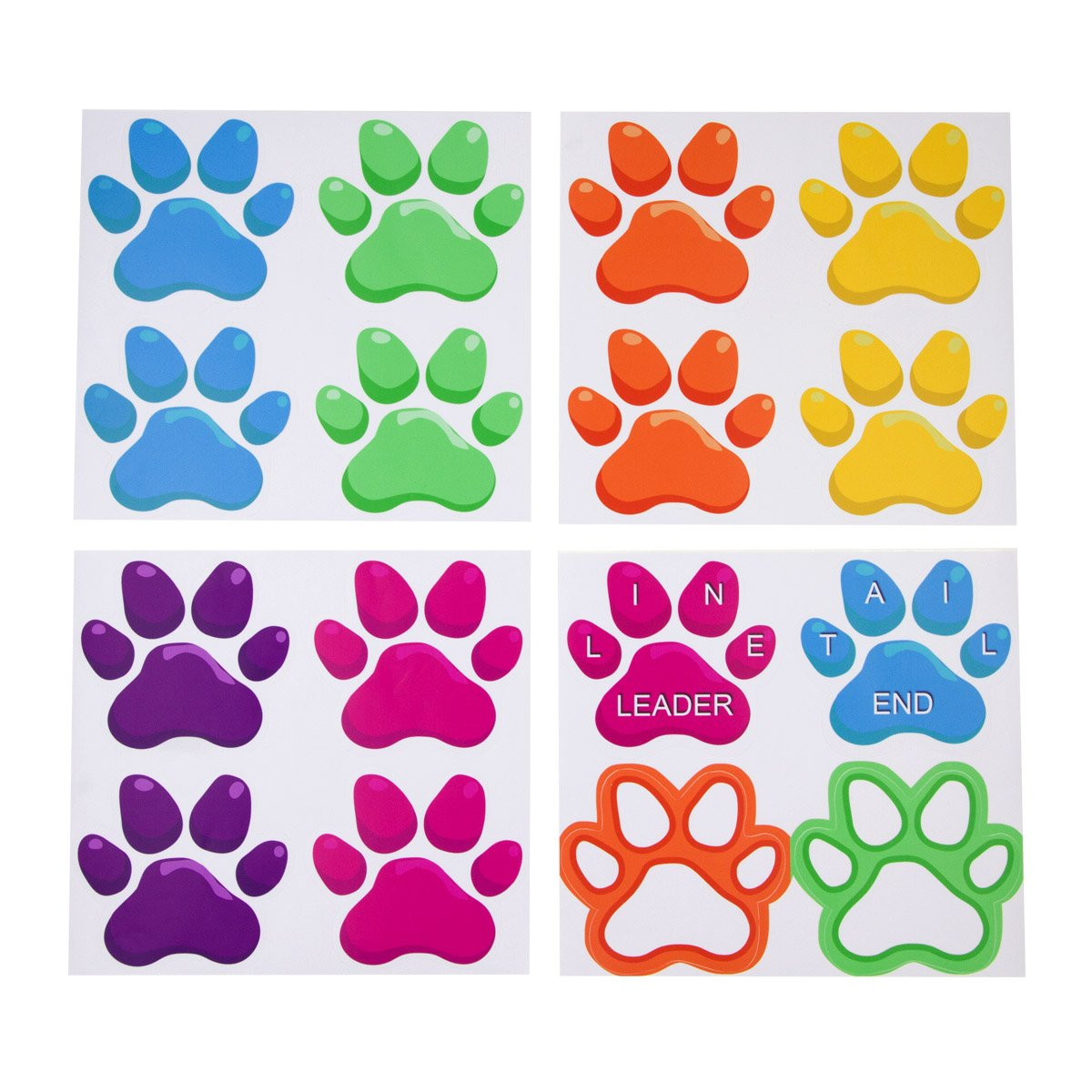 Paw Shaped Prints Floor Decals Stickers for Classroom Home Party Decoration