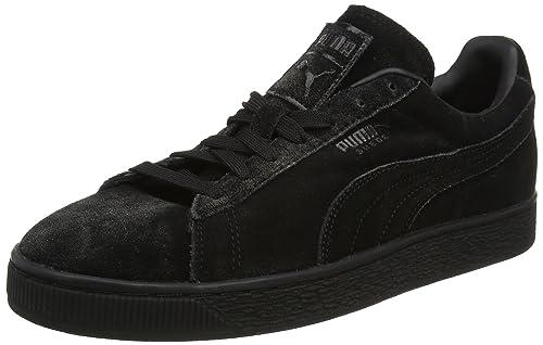 énorme réduction d4e5d 4fd0f Puma Suede Classic Distressed, Sneakers Basses Homme, Noir ...