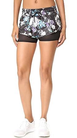 huge discount a307e 3d652 adidas by Stella McCartney Womens Run Dark Blossom 2-in-1 Shorts AX7269,