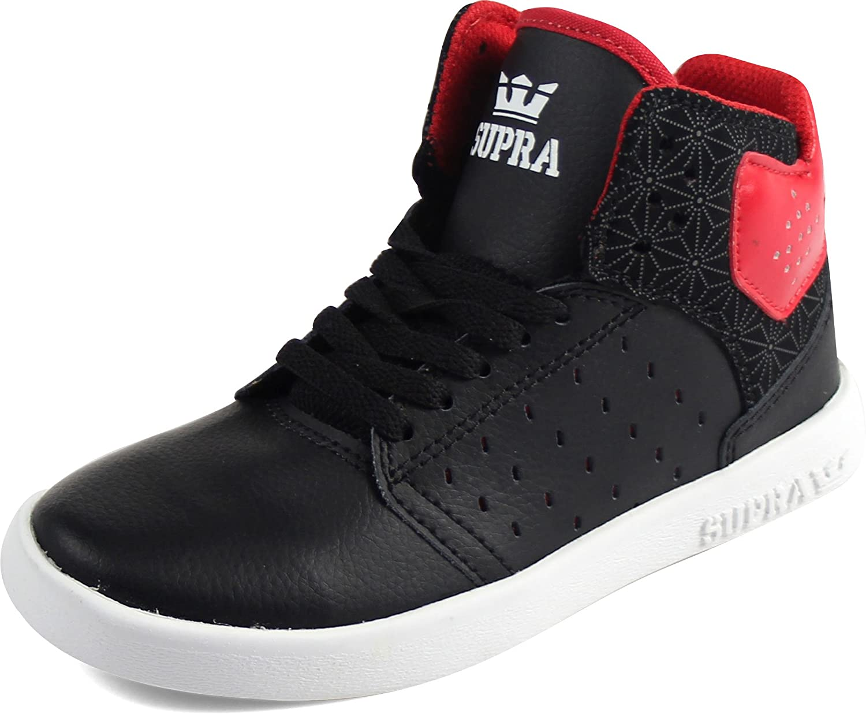 cb8aa6511fd3f Supra - Boys Atom Shoes, Size: 13 M US Little Kid, Color: Black/Red/Black