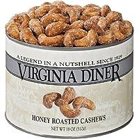 Virginia Diner Honey Roasted Cashews, 18 Ounce