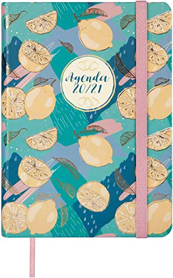 Oferta amazon: Finocam - Agenda Curso 2020-2021 M4-118 x 168 Semana Vista Apaisada Natural Lemon Español