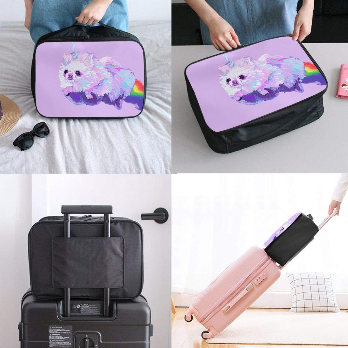 Lightweight Large Capacity Portable Duffel Bag for Men /& Women Rainbow Pomeranian Dog Travel Duffel Bag Backpack JTRVW Luggage Bags for Travel