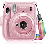 Fintie Protective Clear Case for Fujifilm Instax Mini 11 Instant Film Camera - Crystal Hard PVC Cover with Removable…