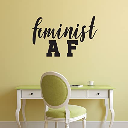 Amazon.com: Pulse Vinyl Feminist AF Quote - Wall Art Decal - 14\