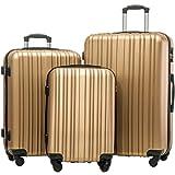 Merax Hylas 3 Piece Luggage Set Lightweight Spinner Suitcase
