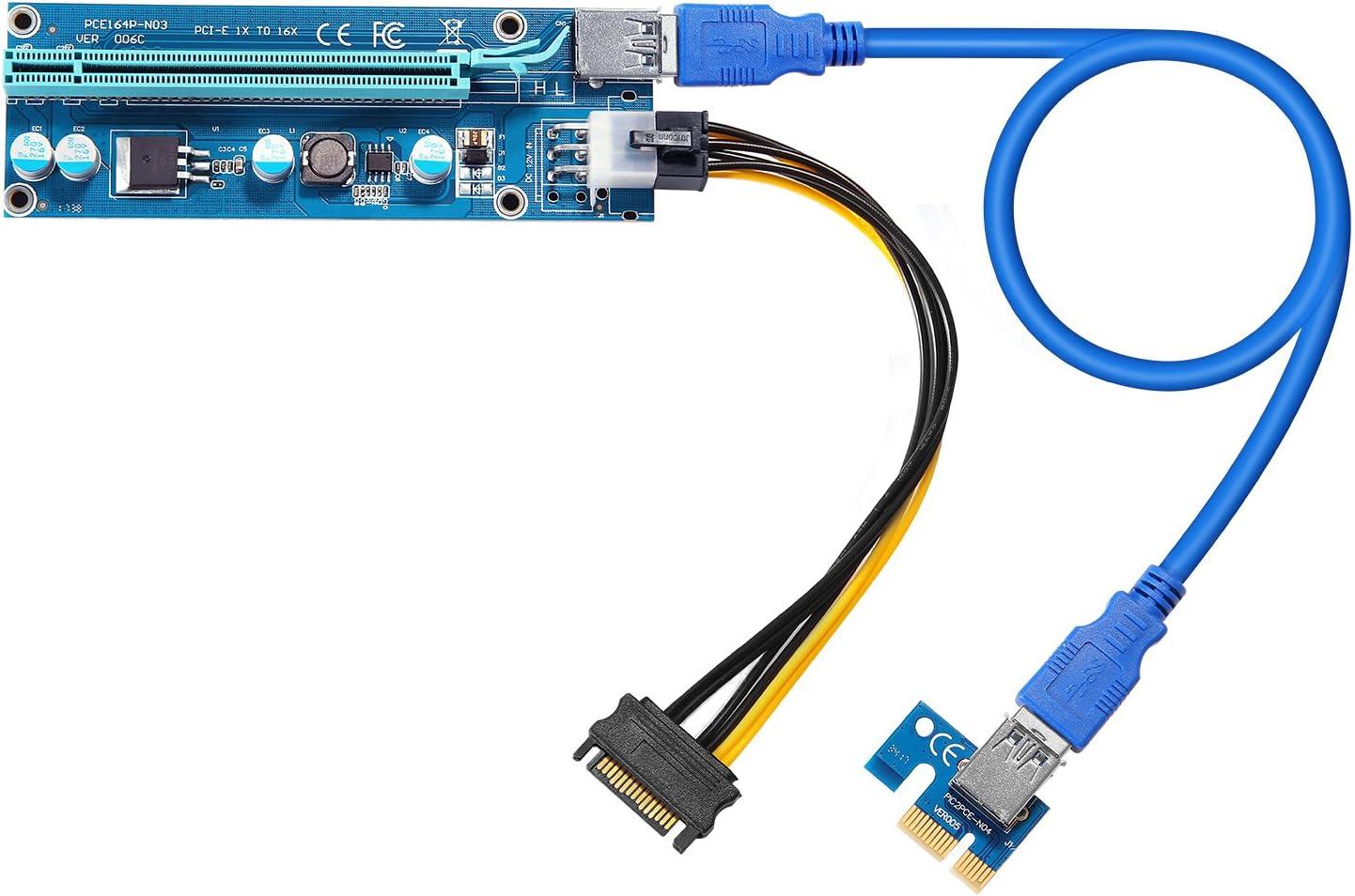 1 Pcie Riser 16x To 1x Con 60cm Usb 3.0 Para Criptomineria
