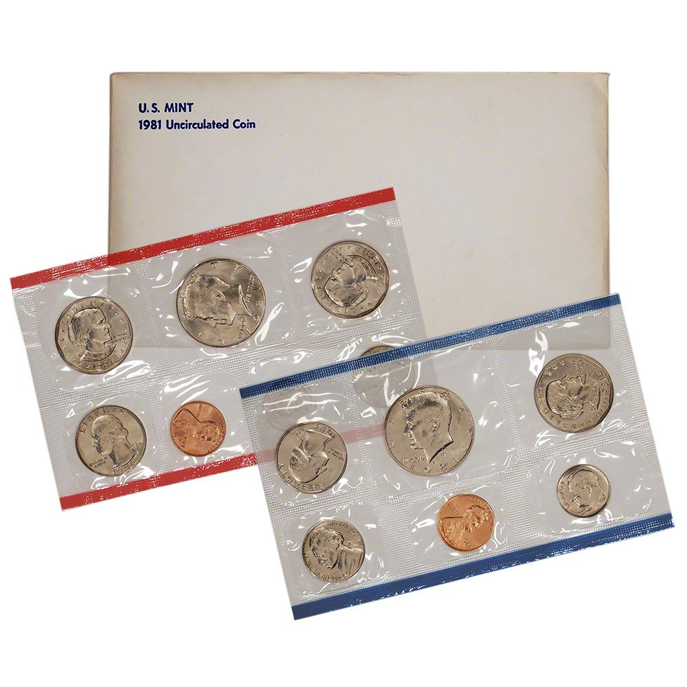 1981 P and D US Mint Uncirculated Coin Set **free shipping**
