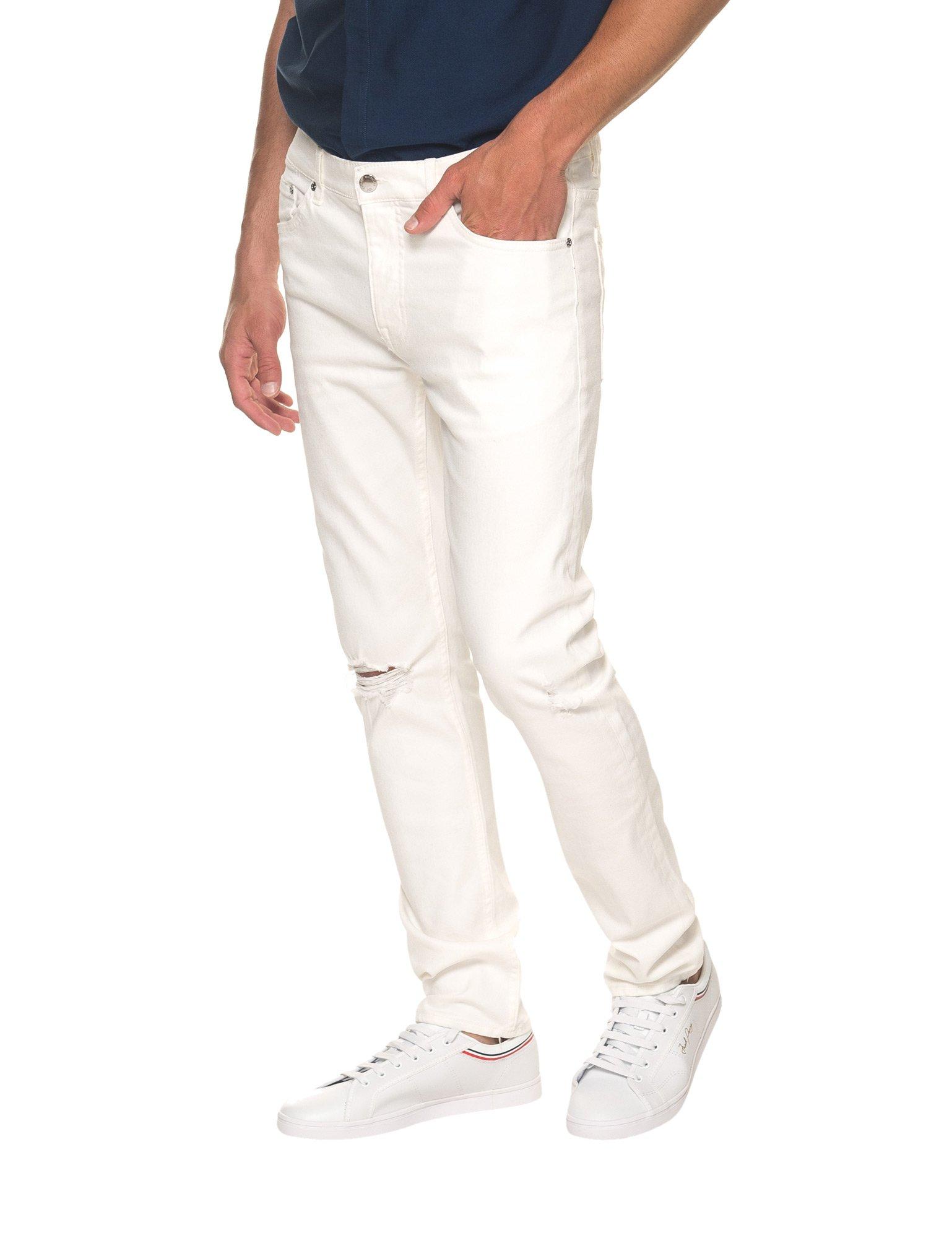 Cheap Monday Men's Sonic Men's Summer White Slim Fit Jeans in Size 31-32 White