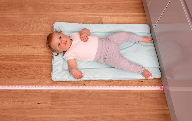 Little Wigwam Measure Me Baby Roll-up Door Frame Growth Height Chart for Children Kids Room Pink Swirl