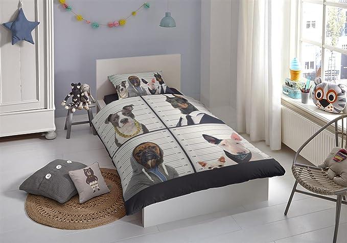 good morning Juego de cama (4 piezas, funda nórdica de 135 x 200 cm 80 x 80 cm funda de almohada Good Morning Perros 5840.99.02 Multi: Amazon.es: Hogar