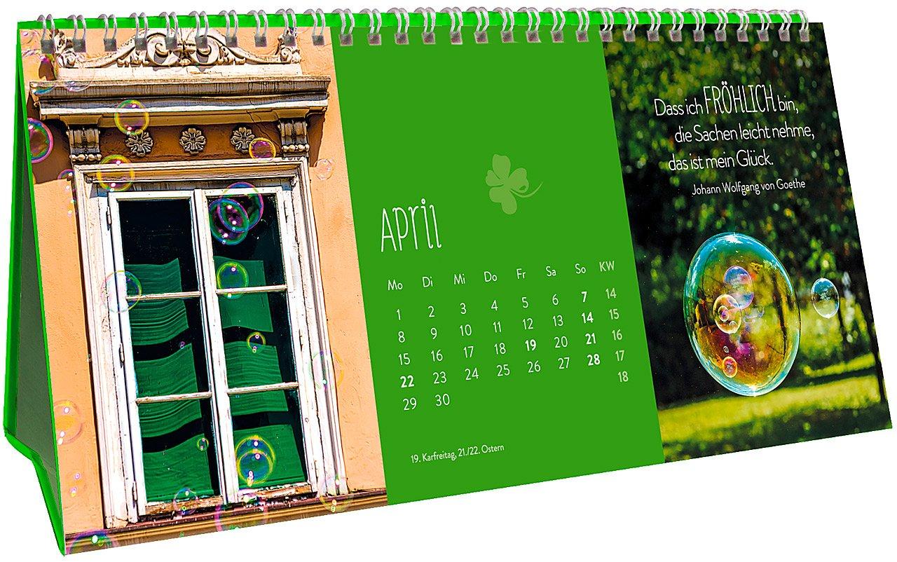 Glücksmomente für jeden Tag 2019 März 2018 Groh Redaktionsteam Groh Verlag 384851883X Aufstellkalender 3-teiliger Tischkalender mit Monatskalendarium Kalender 13
